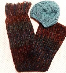 NOVO pleteni zimski šal i kapa