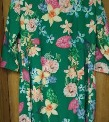 Cvjetna haljina 3/4 rukava