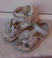 Nelli Blu srebrne ljetne sandale za curice br. 25