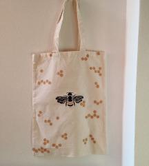 platnena torba/ honey bee. /ručni rad