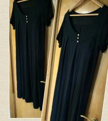 Crna haljina kratkih rukava XL, kao nova