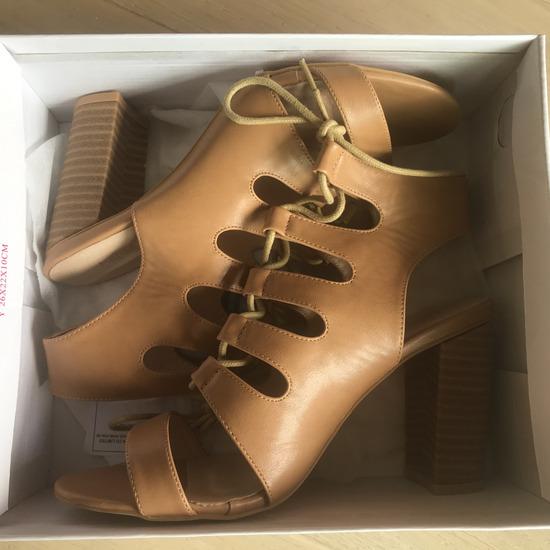 NOVO Nude sandale