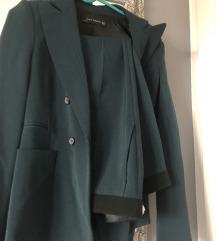 Zara odijelo tamnozeleno 34