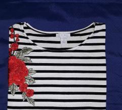 Prugasta oversize majica