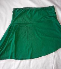 Zelena mini suknja