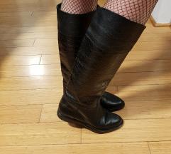 Vintage čizme - prava koža, nikad nošene