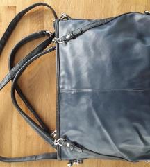 *RASPRODAJA* Orsay tamno plava kozna torba