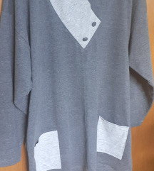 Majica siva dugi rukav