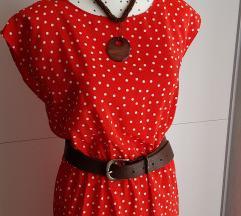Nova crvena haljina na točkice