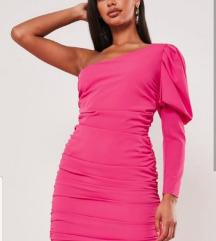 Nova pink haljina na jedno rame
