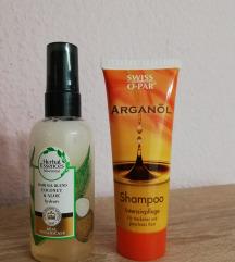 Lot za kosu: ulje i šampon (suha kosa) - NOVO
