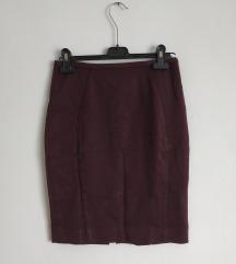 Bordo suknja