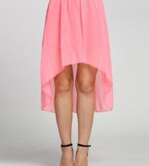 Roza asimetrična suknja
