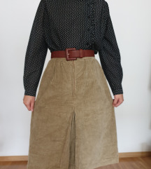Samtana vintage suknja