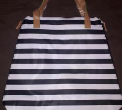 Black & White Shopping Tote
