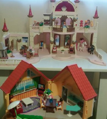 Playmobil dvorac i kućica
