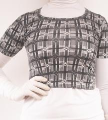 Geometrijska siva majica-top