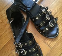 Crne retro sandale