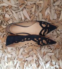 Tamnoplave Zara cipele od brušene kože