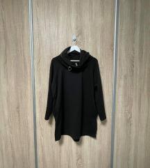 Nova crna pamučna tunika s džepovima
