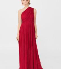 Crvena haljina od svile, predivna