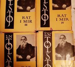 Tolstoj RAT i MIR ( I,II,III,IV) + poklon.