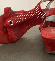 SNIŽENO: ARA crvene kožne sandale