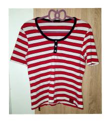 Prugasta crveno bijela majica