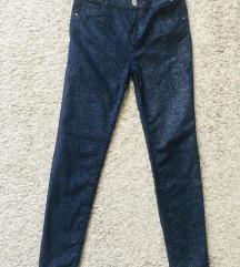 Plave šljokičave skinny hlače vel XS-S