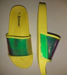 Neon žute šlape