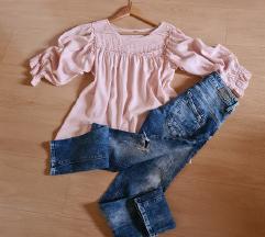 Lot roza bluza/M.O.D. traperice