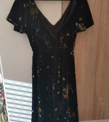Zara haljina plišana s