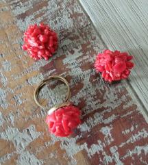 Koralji prsten i naušnice