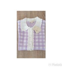 Maje Knit Polo Style Violet top