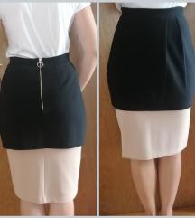 Dizajnerska skupa pencil suknja crna bez nude