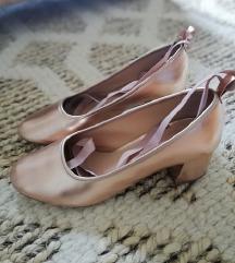 KURT GEIGER rosegold cipele sa vezanjem 38/39