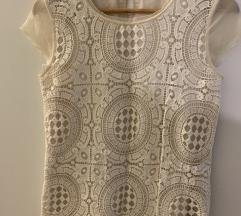 Massimo Dutti bluza od čipke i svile