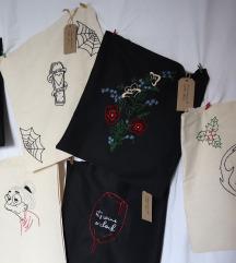 Ručno vezene pletene torbe