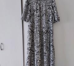 H&M zebrasta oversized haljina (ide do XXL)
