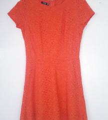Narančasta čipkana ljetna haljina Sinsay 40 novo