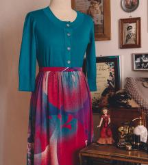 Pink vintage suknja