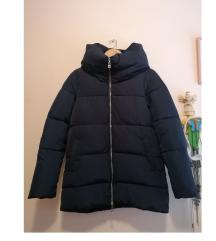 Zara Modra zimska jakna bunda down parka