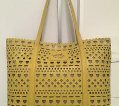 Žuta kožna Braccialini torba