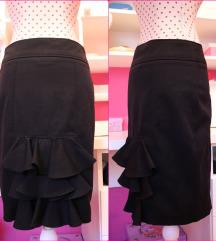 💗Miss Selfridge crna pencil suknja s volanima🖤