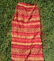 Ethno suknja žarkih boja