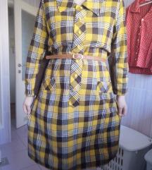 Karirana 70s haljina