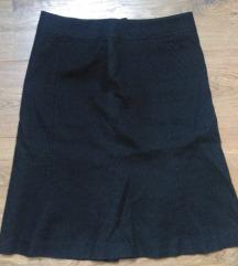 H&M crna suknja s točkicama