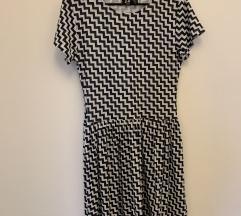 Crno bijela haljina/ tunika