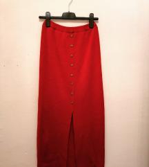 Crvena Zimska Suknja 🌹