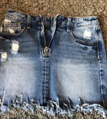 Nikad nošena jeans suknja , 34